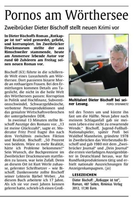 """Buchbesprechung """"Rotkappe ist tot"""""""